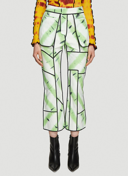 ASAI Jungle Fever Hand Painted Jeans in White size UK - 08