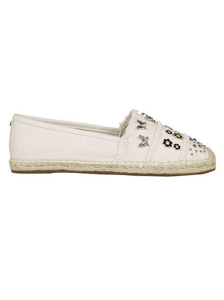 Michael Kors Embellished Espadrilles in cream / yellow