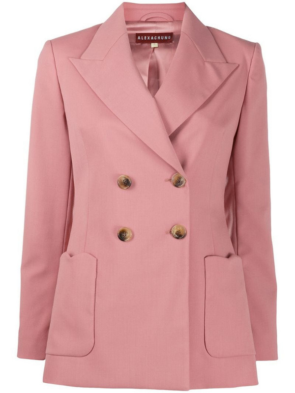 Alexa Chung double breasted blazer in pink