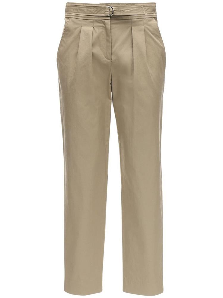 A.P.C. Sarah Cotton Blend Gabardine Pants in beige