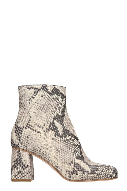 RED Valentino Ankle Boots In Grey Leather