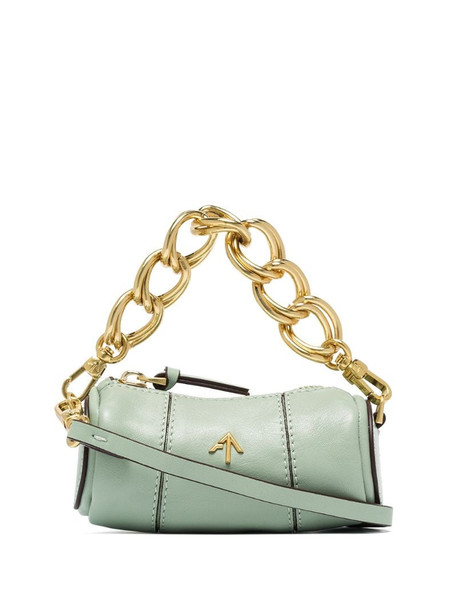 Manu Atelier Cylinder leather mini bag in green