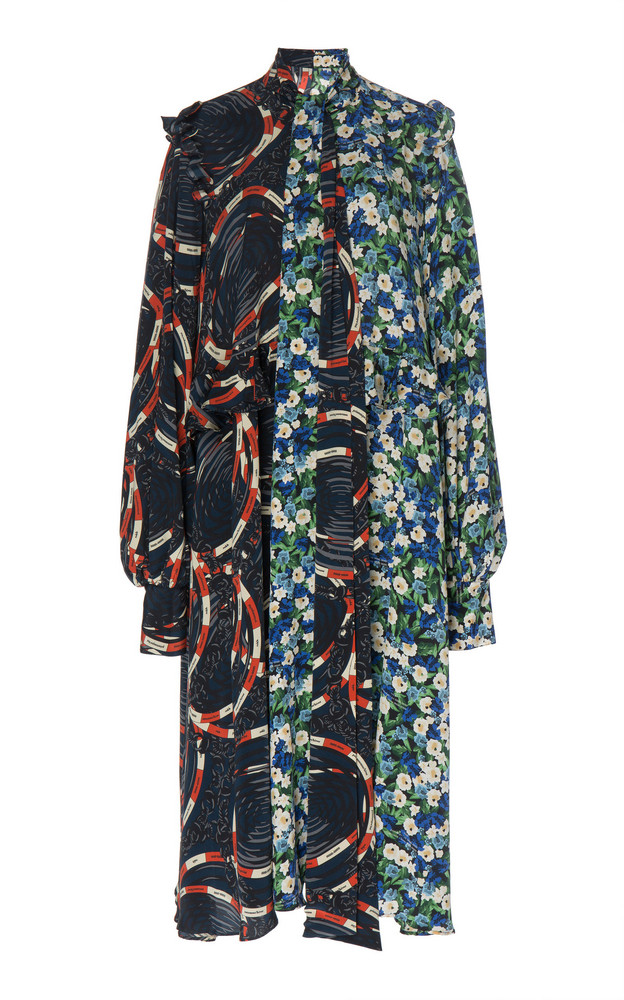 Rokh Scarf Frill Dress in print