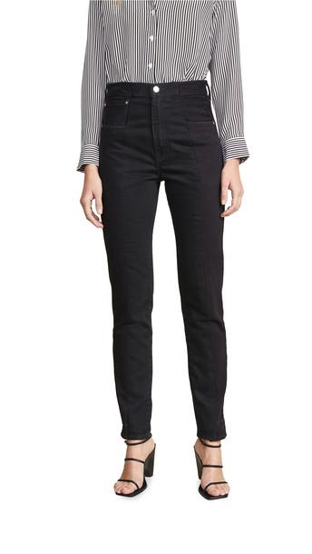E.L.V. Denim Twin Straight Leg Jeans in black