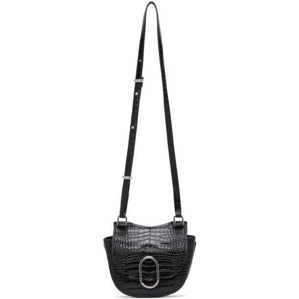 3.1 Phillip Lim Black Croc Mini Hunter Alix Bag