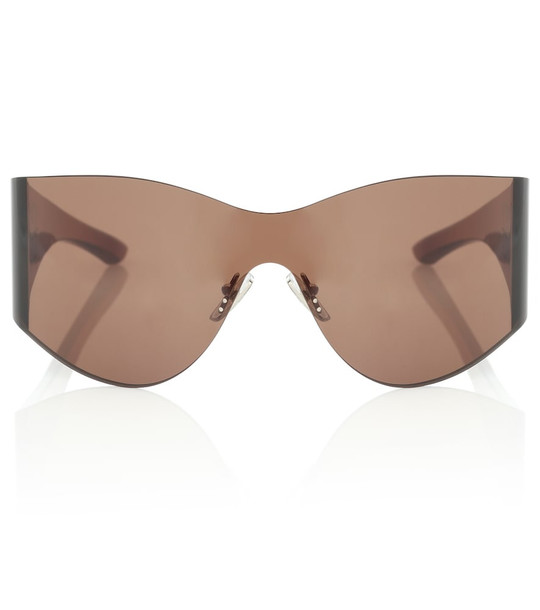 Balenciaga Mask embellished sunglasses in brown