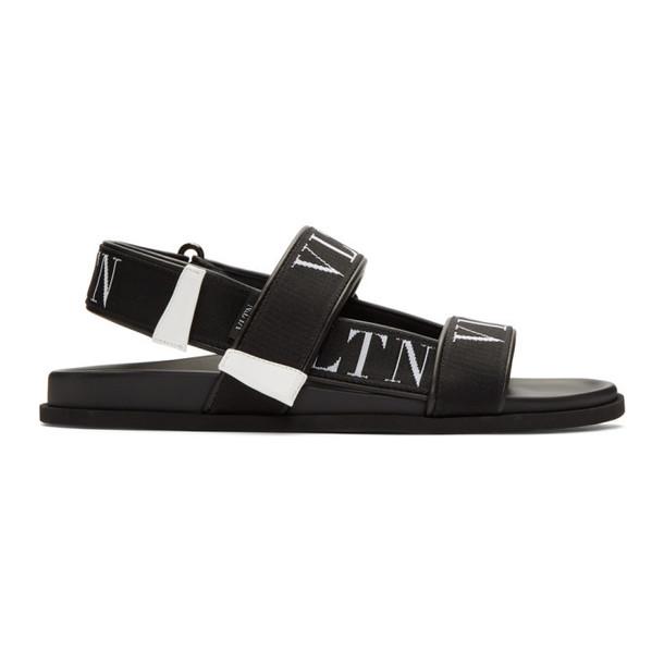Valentino Black Valentino Garavani 'VLTN' Sandals