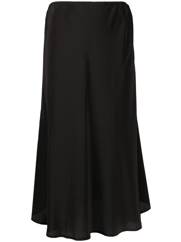 Max & Moi mid-length slip skirt in black