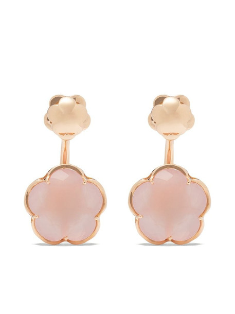 Pasquale Bruni 18kt rose gold quartz Bon Ton earrings in pink
