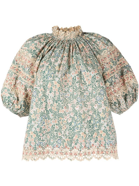 Ulla Johnson Lorna floral print blouse in green