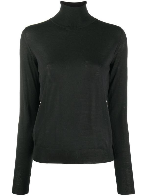 Roberto Collina plain fine knit jumper in black