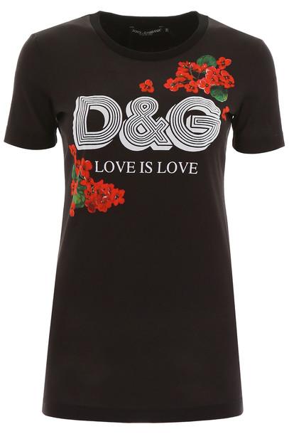 Dolce & Gabbana Love Is Love T-shirt in black