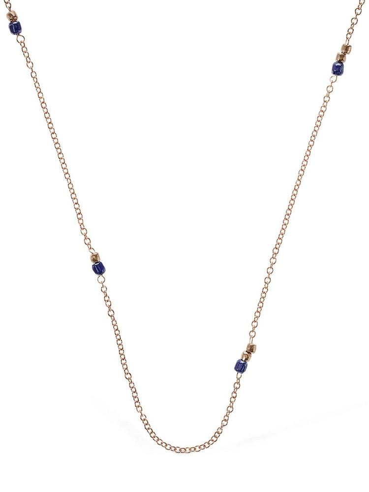 DODO 9kt & Blue Ceramic Granelli Necklace