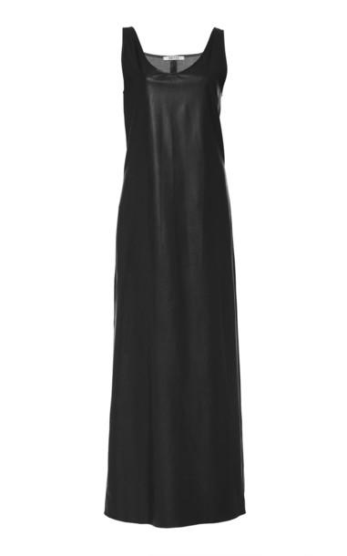 Deitas Lisa Marie Organic Vegan Leather Tank Dress in black