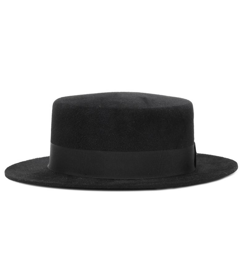Saint Laurent Rabbit-felt hat in black