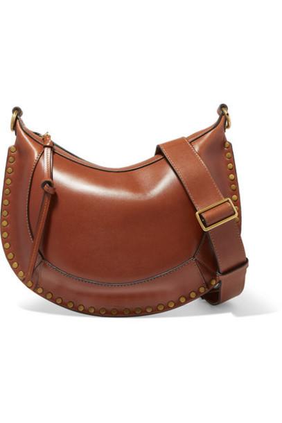 Isabel Marant - Naoko Studded Leather Shoulder Bag - Brown
