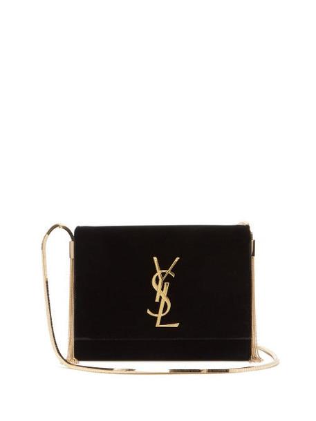 Saint Laurent - Kate Small Velvet Shoulder Bag - Womens - Black