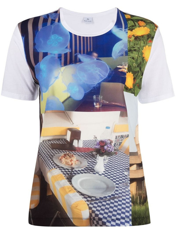 PS Paul Smith graphic photograph print t-shirt in white