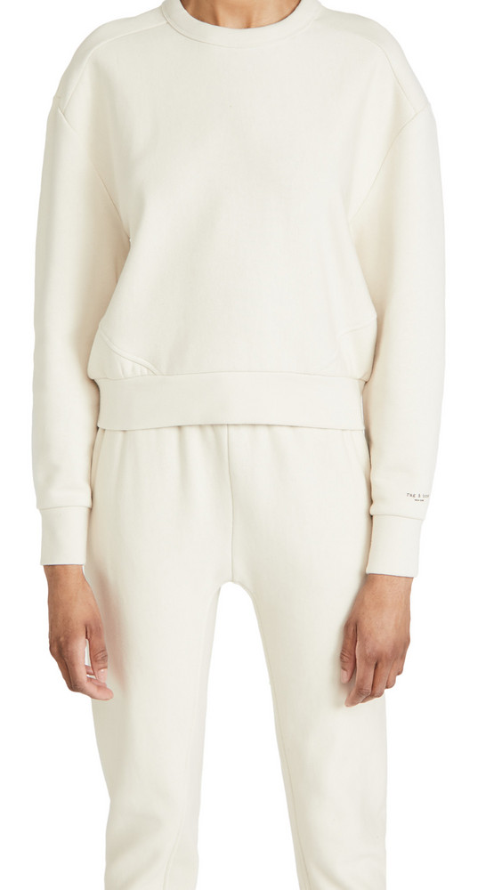 Rag & Bone City Sweatshirt in ivory