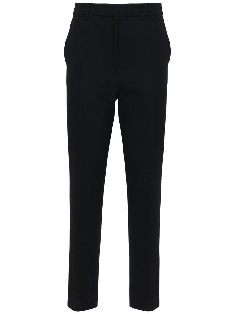 ANN DEMEULEMEESTER Wool & Cotton Straight Leg Pants in black