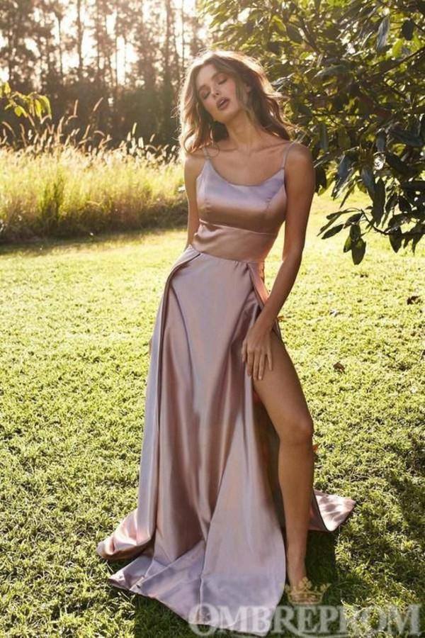 dress rose gold gown maxi dress prom dress long dress long prom dress silk silk dress