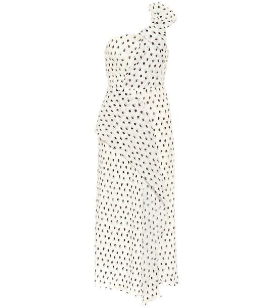 Roland Mouret Giza polka-dot midi dress in white