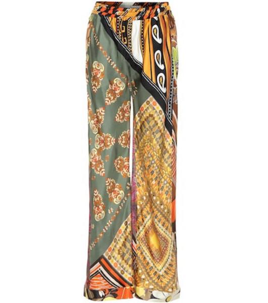 Chloé Printed silk wide-leg pants