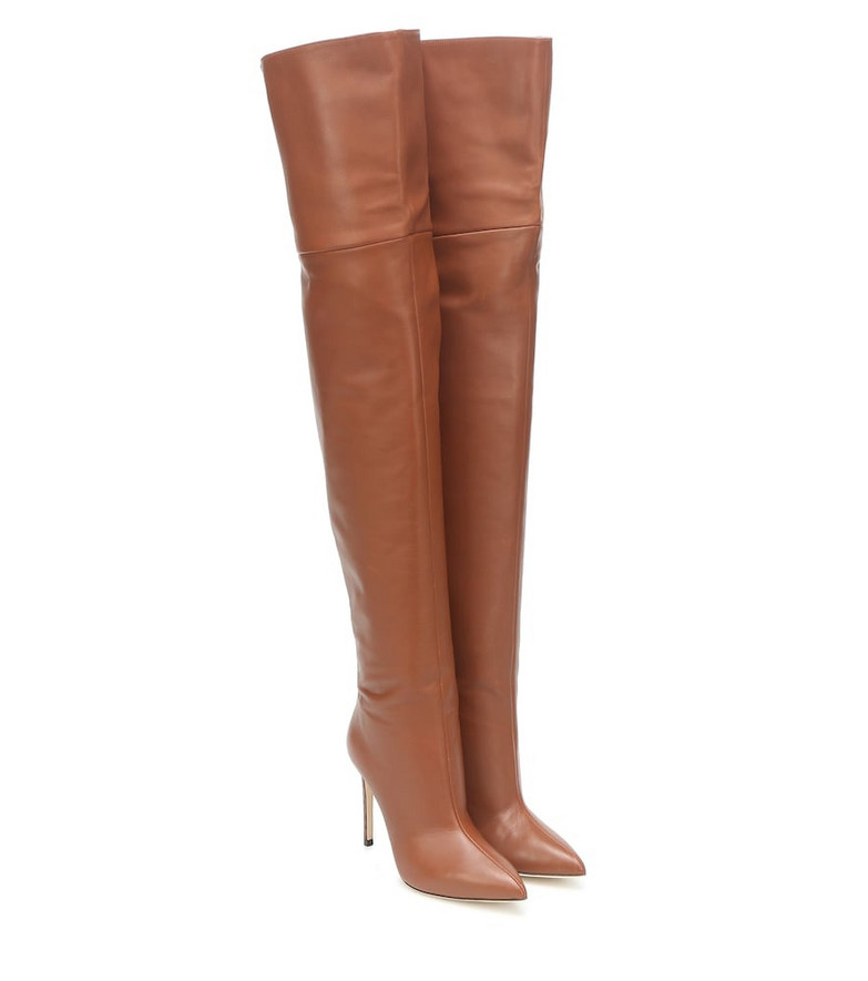 Paris Texas Leather over-the-knee boots in brown