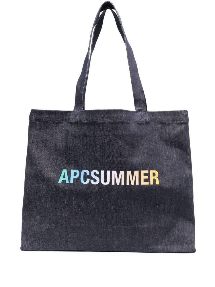 A.P.C. A.P.C. Summer logo tote bag - Blue