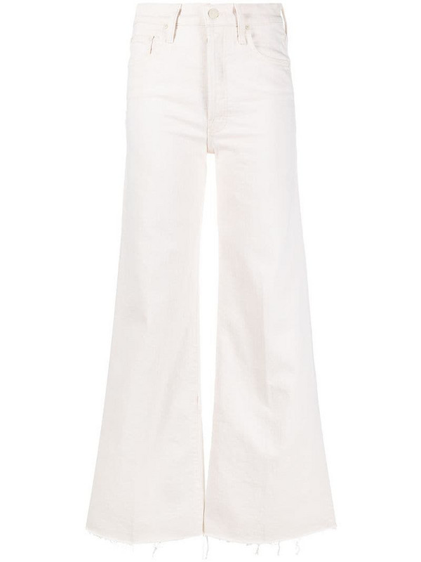 Mother high-rise wide leg jeans