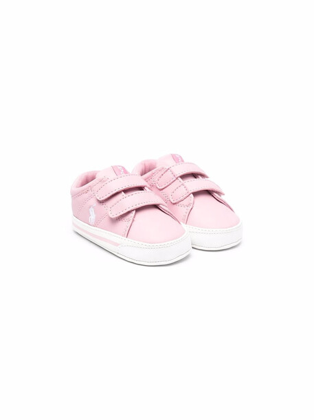 Polo Ralph Lauren Kids Polo Pony touch-strap sneakers - Pink