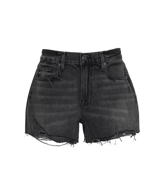 FRAME Le Brigette high-rise shorts in grey