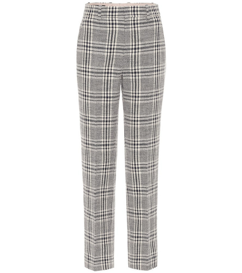 Gucci Wool and cotton-blend straight pants in blue