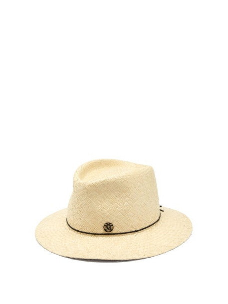 Maison Michel - Andre Straw Trilby Hat - Womens - Beige