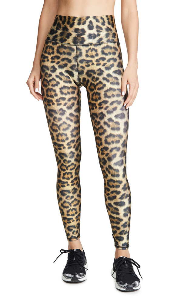Terez High Rise Leggings in leopard