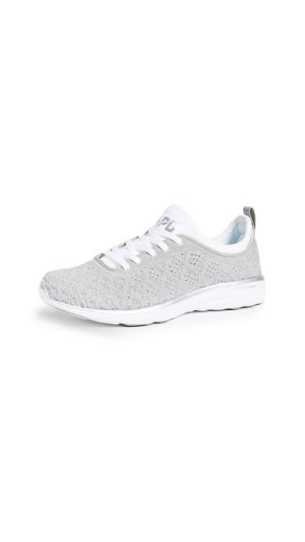 APL: Athletic Propulsion Labs Techloom Phantom Sneakers in metallic / silver / white