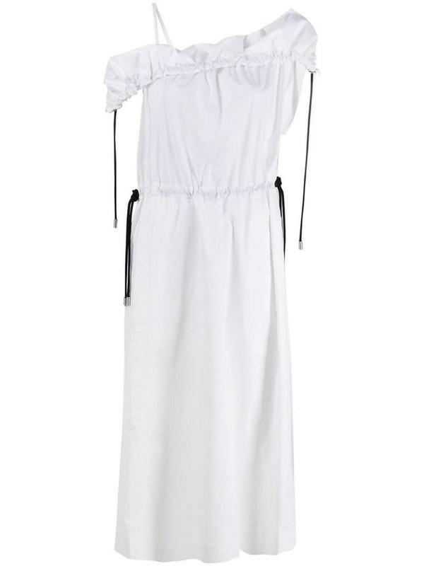 3.1 Phillip Lim cold-shoulder parachute utility dress in white
