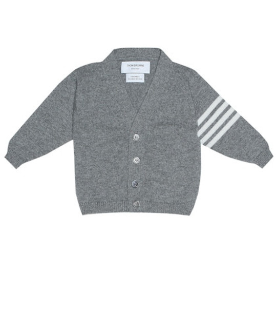 Thom Browne Kids Cashmere cardigan in grey