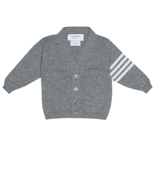 Thom Browne Kids Cashmere cardigan in grey