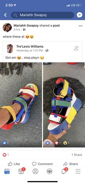 shoes,colorblock sandal,straps sandals,colorful,yellow,blue,green,white,red,sandals,nail polish,platform sandals,colorblock,platform shoes,strappy