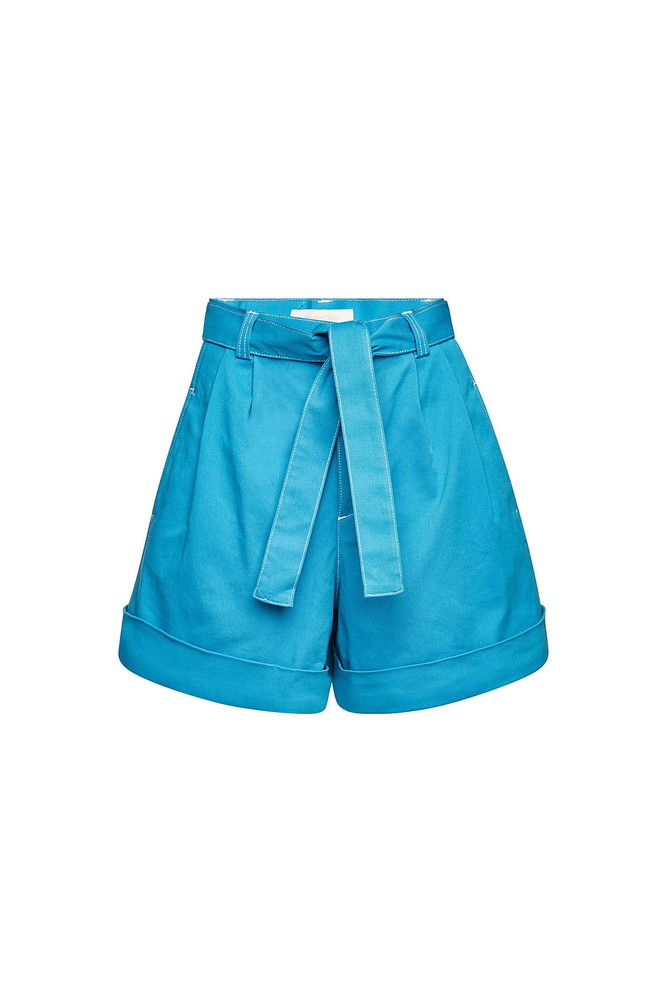 See by Chloé High-Waisted Shorts with Tie  in blue