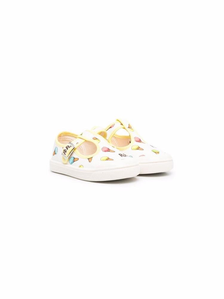 Pèpè Pèpè Sam pam gelato-print sneakers - White