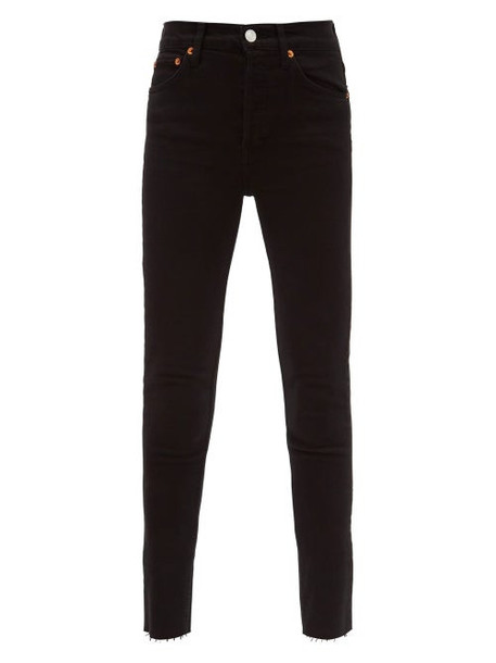 Re/Done Originals - High-rise Cropped Jeans - Womens - Black