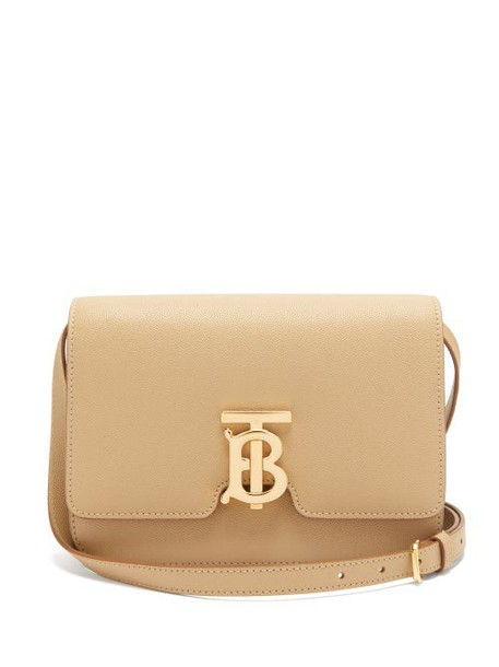 Burberry - Tb Monogram Small Grained Leather Cross Body Bag - Womens - Beige