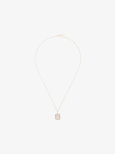Mateo 14kt gold crystal-embellished heart necklace