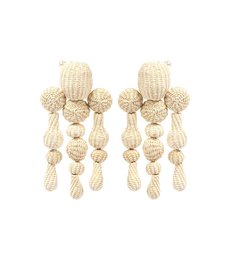 Johanna Ortiz Threads of Hope clip-on earrings in beige