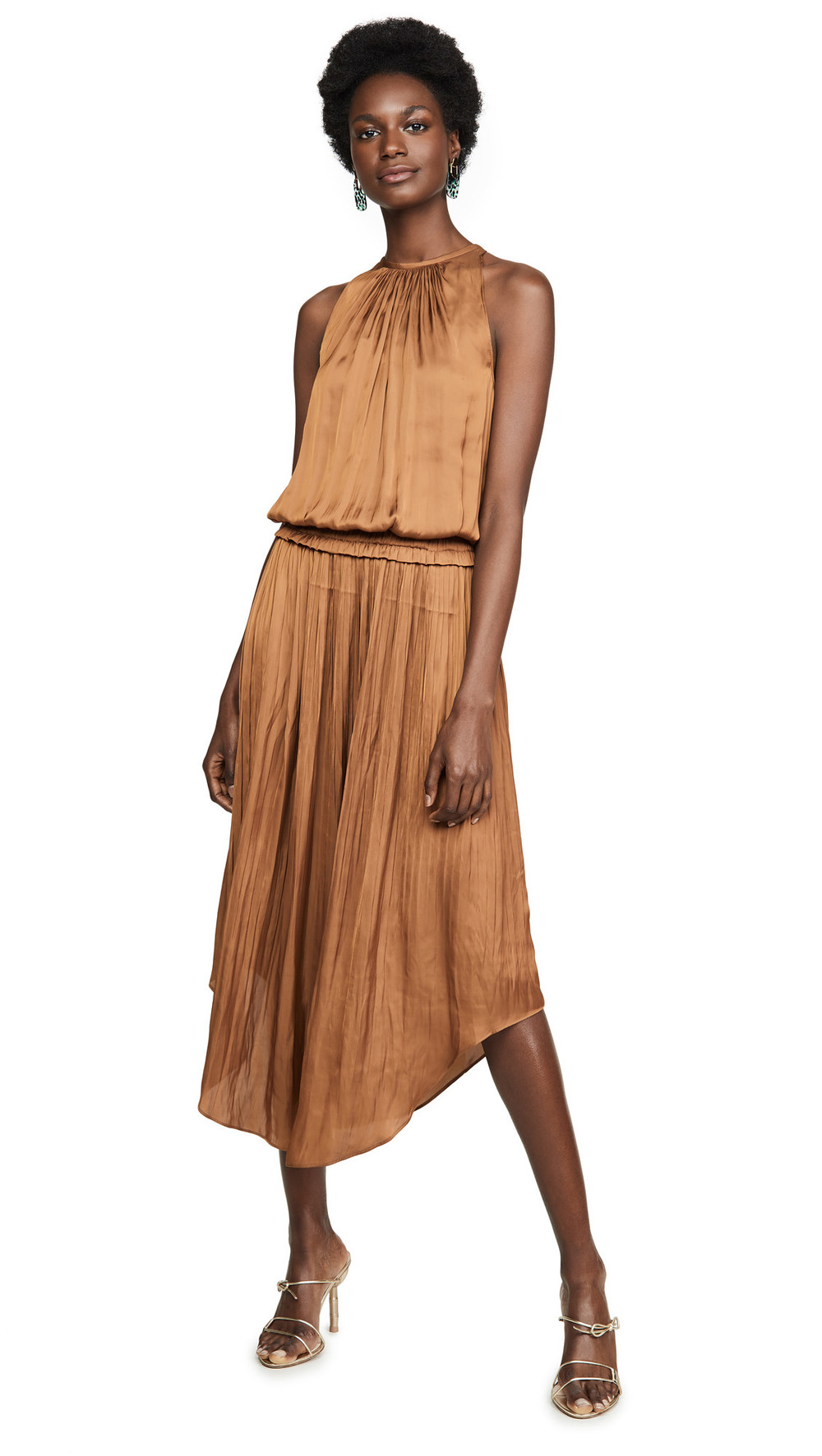 Ramy Brook Myrtle Dress in copper
