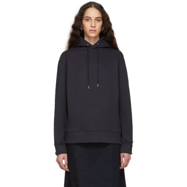 A-Plan-Application A_Plan_Application Navy Oversized Hoodie