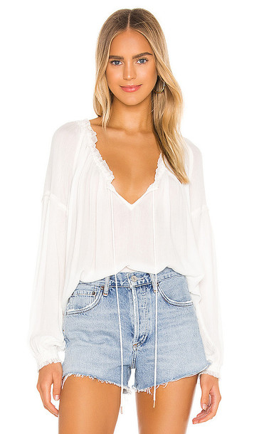 Free People Banda Blouse in White