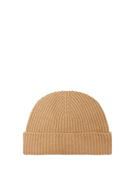 Johnston's Of Elgin - Ribbed Cashmere Beanie - Womens - Camel
